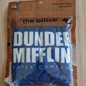 The Office Dunder Mifflin Paper Co Face 2 Pk Masks